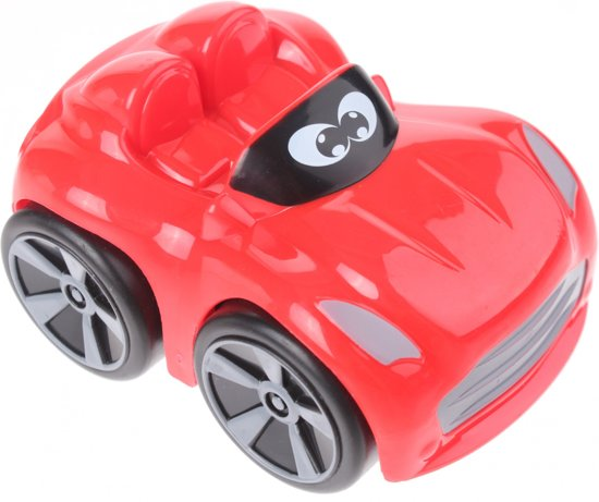 Johntoy Baby Raceauto Rood 9 Cm