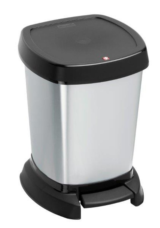 Paso Pedaalemmer 20 Liter.Bol Com Rotho Paso Pedaalemmer 6 L Zilver Metallic