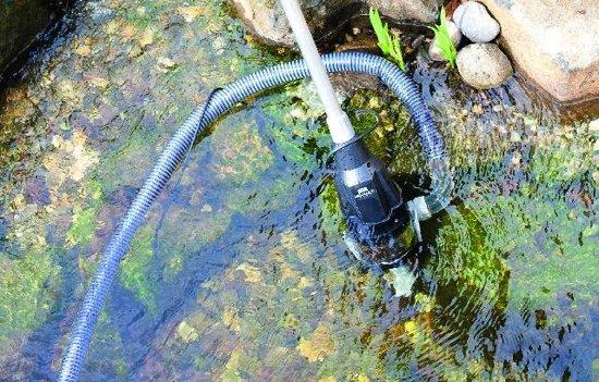 Heissner Zwembad-/vijverstofzuiger 8000 L/u Zilvergrijs/zwart