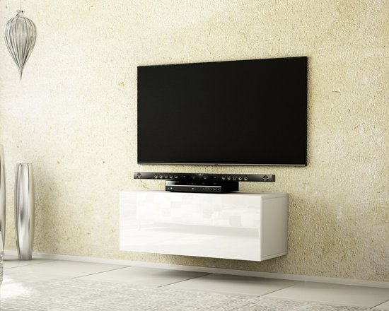 Tv Meubel In Wit Hoogglans.Bol Com Az Home Tv Meubel Tv Kast Young 100 Cm Wit
