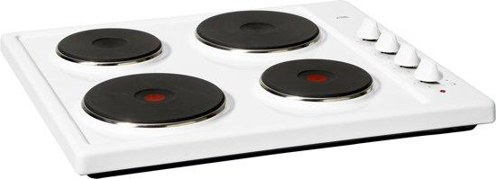 ETNA KEV158WIT - Vrijstaande Elektrische Kookplaat - Wit