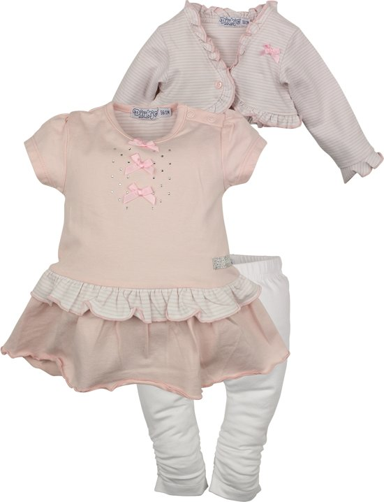Kinderkleding Maat 74.Bol Com Dirkje Babykleding 3 Delig Setje Sparkle Roze Maat 74
