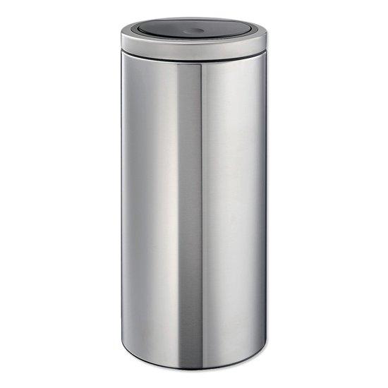 Brabantia Touch Bin Afvalverzamelaar 30 Liter.Brabantia Touch Bin Flat Top 30 Liter Matt Steel