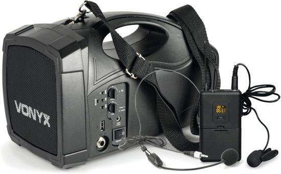Vonyx ST012 Draagbaar omroepsyteem met o.a. headset microfoon en bluetooth
