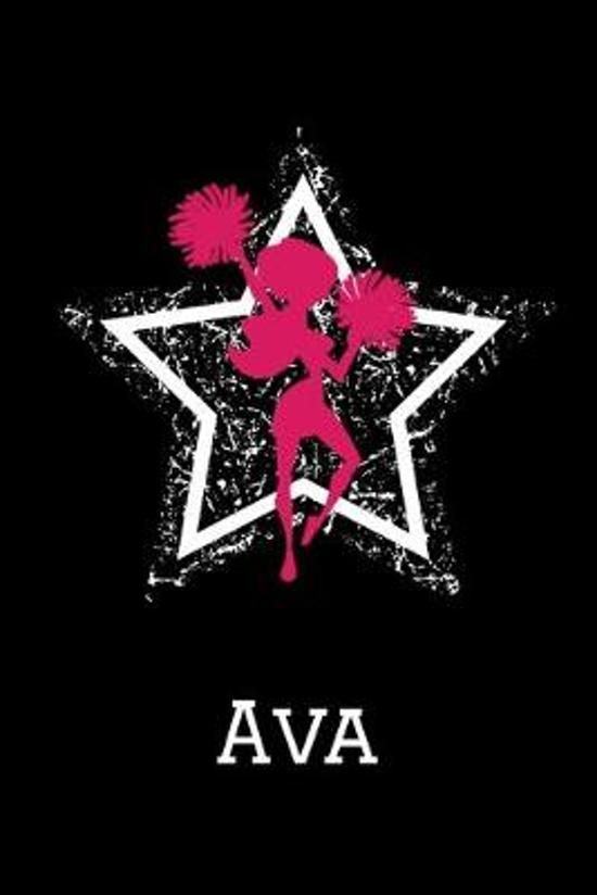 Ava Cheerleading Notebook: Cute Personalized Cheerleader Journal With Name For Girls