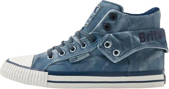 HoogDonker 39 Sneakers Knights British Heren Roco Maat Blauw EHW92YDI