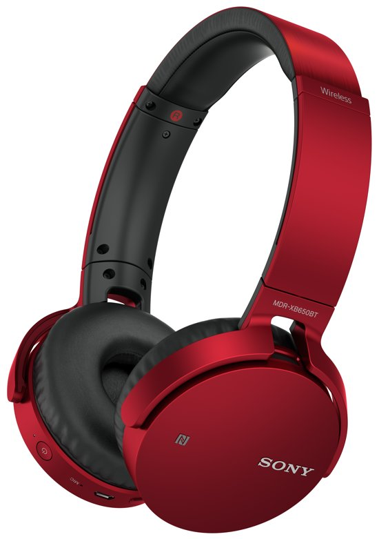 Sony MDR-XB650BT - Draadloze eXtra Bass on-ear koptelefoon - Rood
