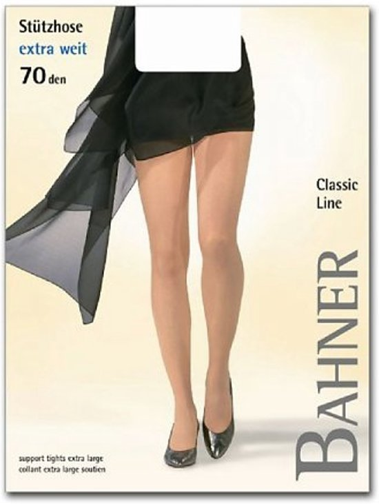 Dames steun panty | Bahner Classic Line extra wijd 70 denier | Taupe L
