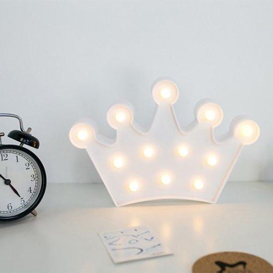 bol | crown kroon lamp led verlichting tafel slaap woonkamer wit