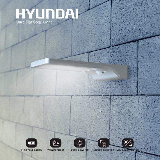Extreem bol.com | Hyundai - Ultra dunne LED buitenlamp op zonne-energie TH08
