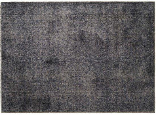 Schoonloopmat/karpet Soft&Deco velvet Greige 140 x 200 cm