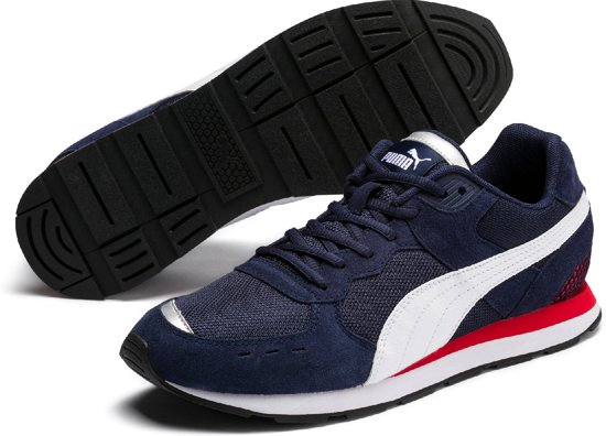 Peacoat 40 Unisex Sneakers Risk Maat Red White High Vista Puma qtapFwBw