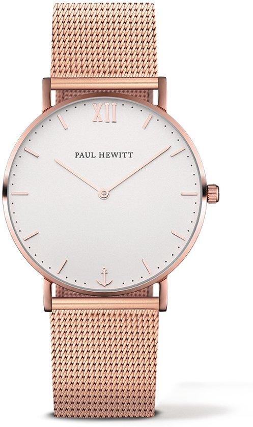 Paul Hewitt Sailor Line PH-SA-R-ST-W-4M - Horloge - Staal - Rosékleurig - Ø39mm