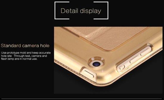 Apple iPad Pro 9.7 inch Folio Semi transparent Flip cover PU Leather hoesje Zwart