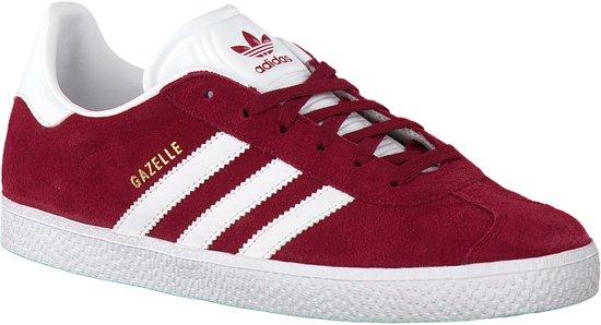 Adidas Meisjes Sneakers Gazelle J - Rood - Maat 35,5
