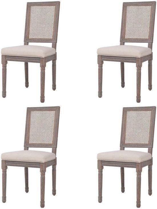 Eettafel Stoelen Crme.Eetkamerstoelen Creme Wit 4 Stuks Eetkamer Stoelen Extra Stoelen Voor Huiskamer Bezoekersstoelen