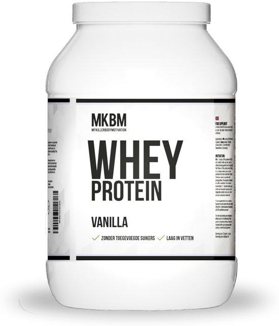 MKBM 100% Whey Complete - Wei Eiwitshake / Proteïnepoeder van Fajah Lourens - 1 KG - Vanilla