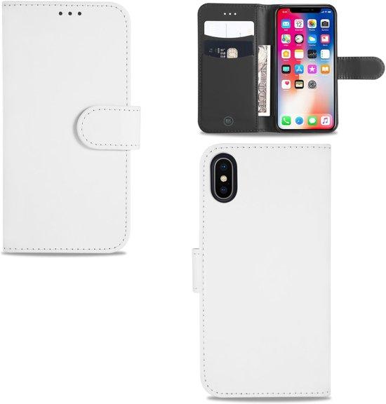 iPhone X | Xs hoesje Wit met Pasjeshouder