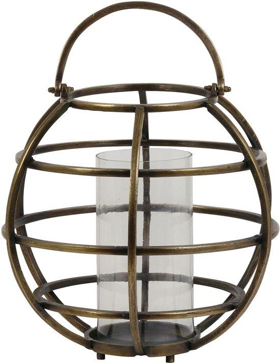 Light & Living Lantaarn  TILA Ø40x49 cm  -  draad ruw antiek brons-glas