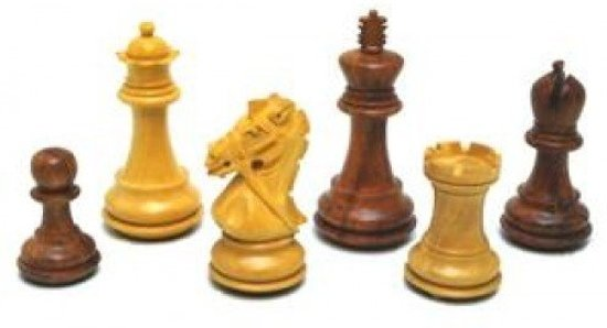 Afbeelding van het spel Schaakstukken Rein Knight blank/br.LL/V.96mm