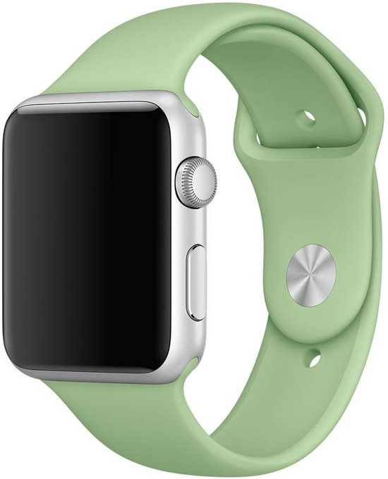 123Watches.nl bandje - Apple Watch Series 1/2/3/4 (38&40mm) - Mintgroen - M/L