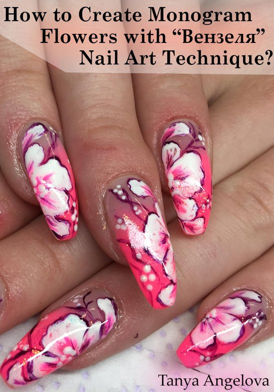 Bol How To Create Monogram Flowers With Nail Art