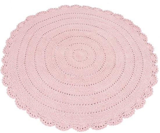 Kidsdepot Rond vloerkleed Ø110 cm roze Vloerkleed roze