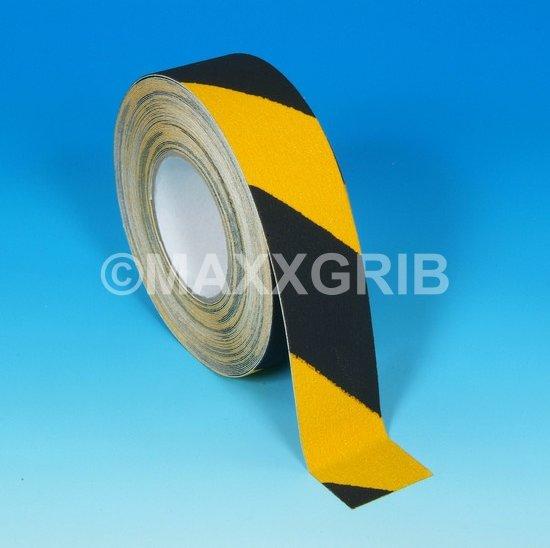 Antislip tape (ZWART/GEEL) - 100mm x 18.3 mtr zwart-geel