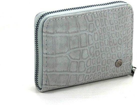 a2ce5a36c6f bol.com   Kleine licht grijze croco dames portemonnee Brisbane