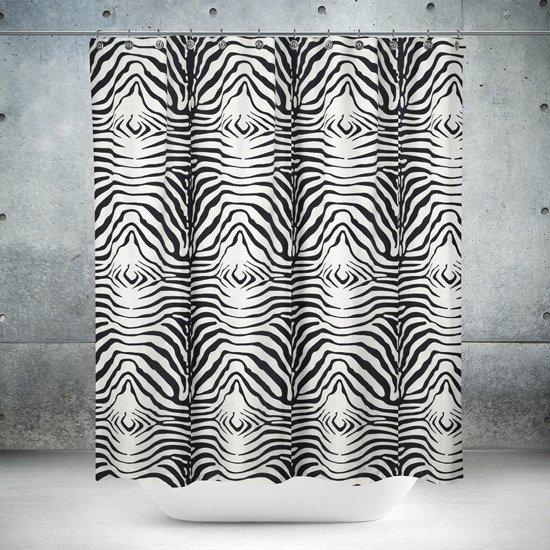 Roomture - douchegordijn - Zebra - 240 x 200 - extra breed