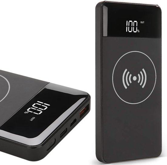 Powerbank Wireless Draadloos - 10000 mAh - voor iPhone / Samsung / Huawei - TechNow