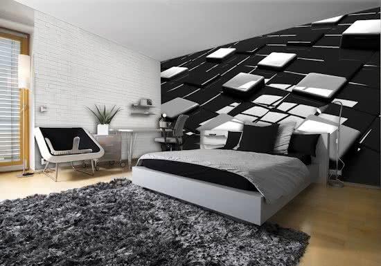 Black   White Photomural, wallcovering