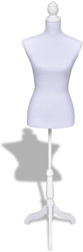 vidaXL - Paspop Dames torso/buste wit 30022