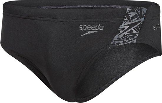 Speedo Zwembroek Endurance Boom Splice 7Cm Brief  - Heren - Zwart-Grijs - 7