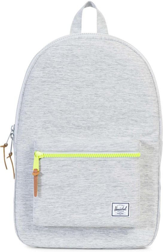 Herschel Supply Co. Settlement Rugzak - Light Grey Crosshatch / Acid Lime Zip