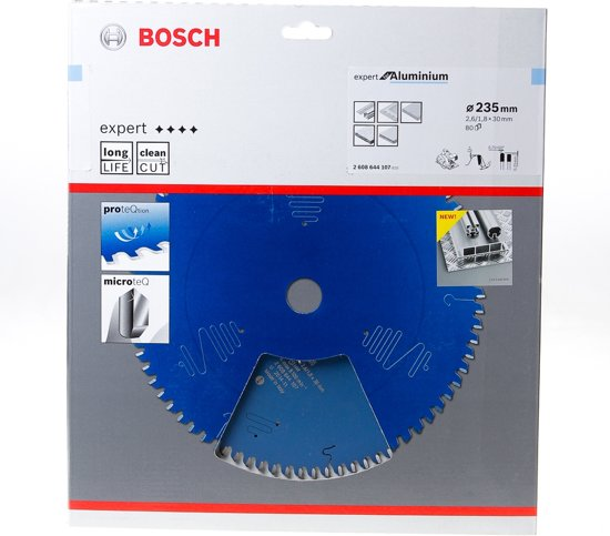 Bosch Cirkelzaagblad 80 tanden Aluminium HLTCG 235 x 30 x 2.6mm