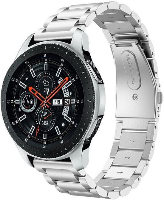 Zilver 20mm Samsung Galaxy Watch Active metaal smartwatch horloge bandje universeel