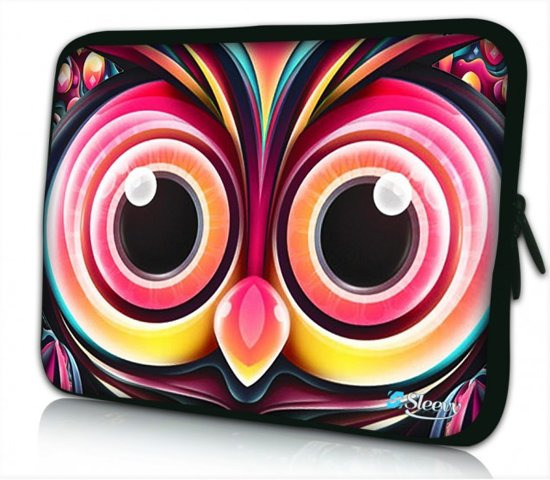 ab3e443eb59 bol.com   Laptophoes 17.3 inch artistieke uil - Sleevy