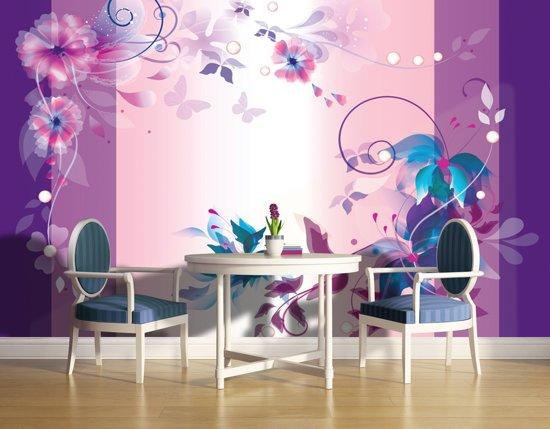 Violet   Blue Photomural, wallcovering