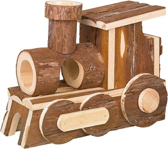 Nobby Locomotief - Speelhuisje Voor Knaagdieren - Bruin - 24,5 x 12 x 18 cm