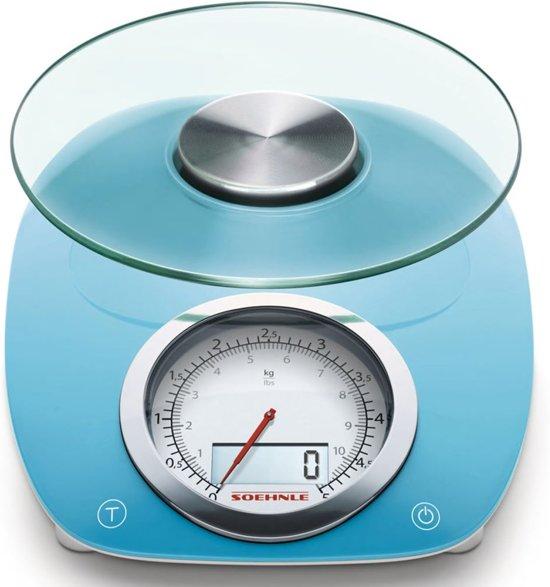 Soehnle - Digitale keukenweegschaal - Vintage Style - Blauw - 66230