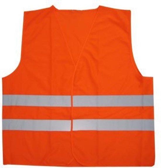 Fluorescerend Oranje Reflecterend Wegenbouw Veiligheidsvest - One size fits all | Fluorescerend | Veiligheids Vest | Veiligheidshesje | Wegwerkersvest | Werkkleding | Hesje voor Klussen | Veiligheid | Pech | BHV | Fluor | Werkkleding en Bescherming