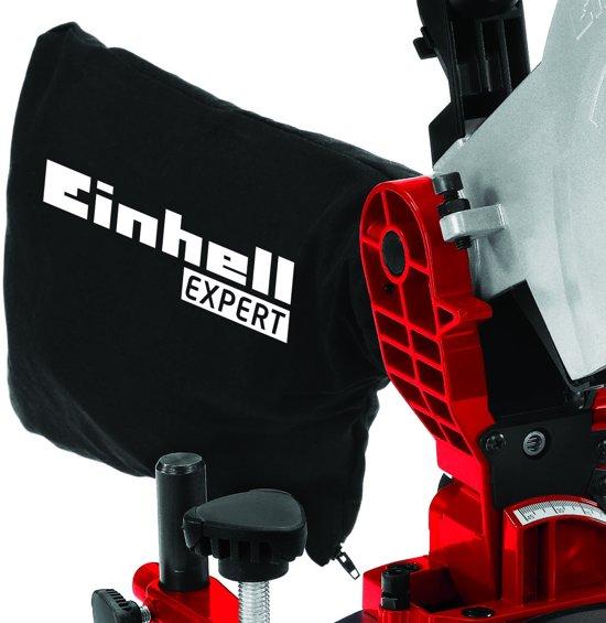 Einhell TE-MS 2112 L Kap- en verstekzaag (Afkortzaag / Trekzaag) - 1400 W - Zaagblad: Ø210 x Ø30 mm / 48 T - Inclusief laser, LED-licht, stofzak en transportvergrendeling