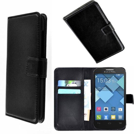 Alcatel Pop C7 Wallet Bookcase hoesje Zwart