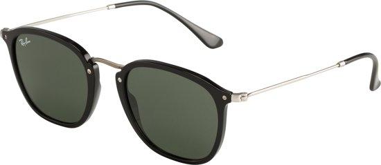 69e3dec23a7aad Ray-Ban RB2448N 901 - zonnebril - Zwart  Zilver - Groen Klassiek G-