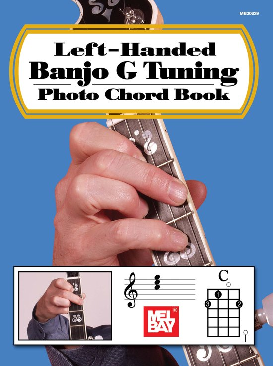 Left-Handed Banjo G Tuning Photo Chord Book