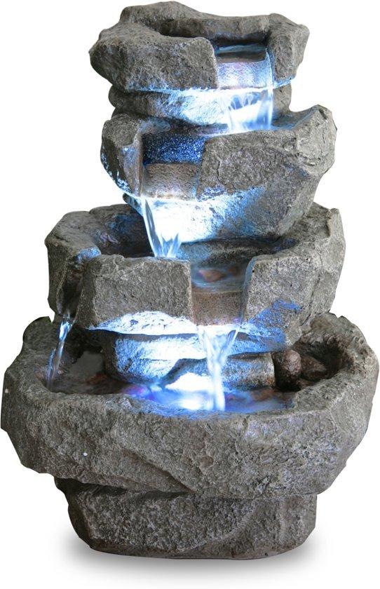 Shubunkin Vier Lagen Waterval met LED verlichting
