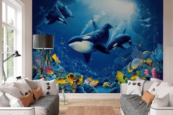 Behang Kinderkamer Vissen : Bol.com onderwater wereld fotobehang 366 x 254 cm