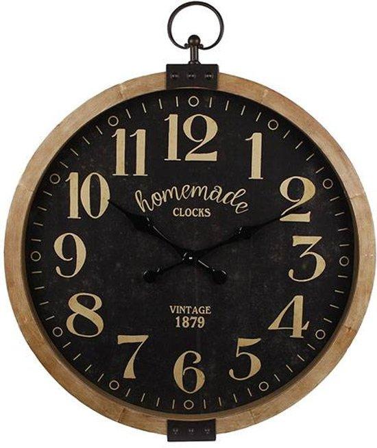 Wandklok Homemade Zwart - Ã50 cm