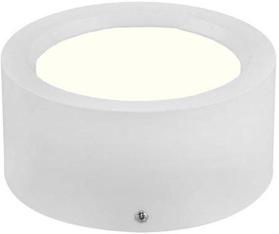 LED Downlight - Opbouw Rond Hoog 10W - Natuurlijk Wit 4200K - Mat Wit Aluminium - Ø140mm - BES LED